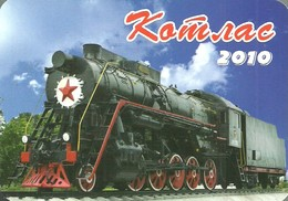 RAIL * RAILWAY * RAILROAD * TRAIN * STEAM LOCOMOTIVE * RED STAR * CALENDAR * Alfa Print 2010 * Russia - Calendriers