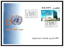 Egypt - 2005 - FDC - ( UN - United Nations, 60th Anniv. ) - Cartas