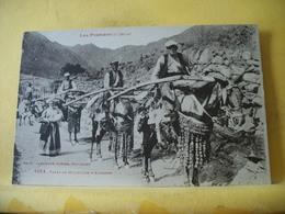 R 131 CPA ORIGINAL - TYPES DE MULETIERS D'ANDORRE - BELLE ANIMATION - Andorra