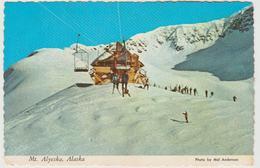 AK Winter Ski Mt Alyeska Mountains Lift Postcard - Vereinigte Staaten