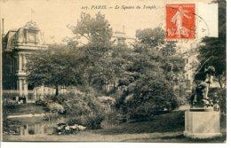 75003 PARIS - Le Square Du Temple - Statue Le Harponneur De Félix Richard, Fondue En 39/45 - Arrondissement: 03