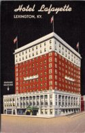 Kentucky Lexington Hotel Lafayette 1953 Curteich - Lexington