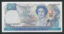 NEW ZEALAND 10 DOLLARS 1990 COM UNC - Nouvelle-Zélande