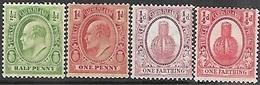 Turks & Caicos Islands  1909-11  Sc#13-4, #23-4  MH  2016 Scott Value $4.95 - Turks & Caicos