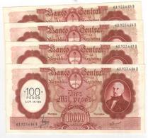 Argentina , Large Note, 100 Pesos On 10000 Pesos, AUNC, (20.00 Usd X1) - Argentina