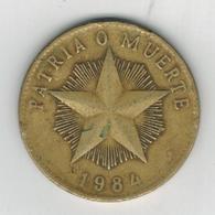 Cuba 1 Peso 1984. Used, See Scan. - Cuba