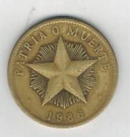 Cuba 1 Peso 1986. Used, See Scan. - Cuba