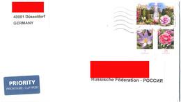 "Germany 2014. Addressed Priority Letter. 3 Stamps: Flowers. ""Krokus"", ""Gartennelke"" And Rosenschau. Forst (Lausitz). - [7] Federal Republic"