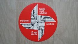 Aufkleber Aus Deutschland Mit Werbung Für Den Landesmusikschultag 1984 - Aufkleber