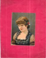 CHROMO LOUIT FRERES Et Cie BORDEAUX -  Portrait D'une Belle Jeune Fille  - - Louit
