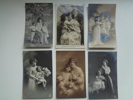 Beau Lot De 60 Cartes Postales De Fantaisie  Mère + Enfant      Mooi Lot Van 60 Postkaarten  Moeder + Kind - 60 Scans - 5 - 99 Cartes