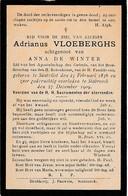 Zandvliet,Santvliet, Stabroek, 1909, Adrianus Vloeberghs, De Winter - Images Religieuses