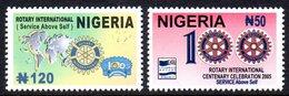 Nigeria 765/66 Rotary - Rotary, Lions Club