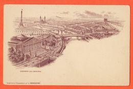 X75229 PARIS 1890 Chambre Des Députés Imprimé à L'exposition Universelle Par LA BENEDICTINE Cppub B.A - France