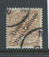 New Guinea German 1897 3pf Yellow Brown Overprint Fine Used - Colony: German New Guinea