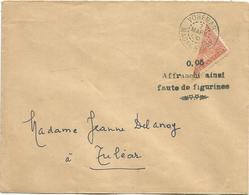 MADAGASCAR 10C COUPE EN 2 LETTRE VOHEMAR 7 MARS 1906 + AFFR AINSI FAUTE DE FIGURINES - Madagaskar (1889-1960)