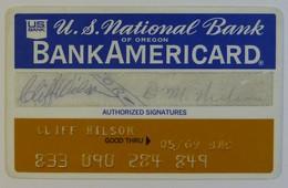 USA - Credit Card - Bank Americard - U S National Bank Of Oregon - Exp 05/69 - Used - Tarjetas De Crédito (caducidad Min 10 Años)