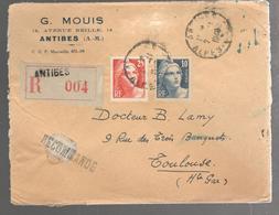 26332 - Recommandée  D'ANTIBES - Storia Postale