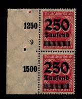 DEUTSCHES REICH 1923 Nr 295 Mit Plattennummer: 9 (94552) - Deutschland