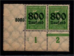 DEUTSCHES REICH 1923 Nr 301 Mit Plattennummer: 1 (94555) - Deutschland