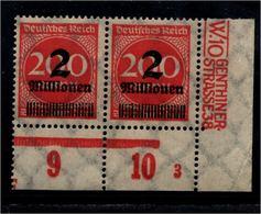 DEUTSCHES REICH 1923 Nr 309 Mit Plattennummer: 3 (94557) - Deutschland