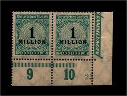 DEUTSCHES REICH 1923 Nr 314 Mit Plattennummer: 23 (94567) - Deutschland