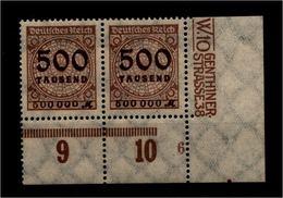 DEUTSCHES REICH 1923 Nr 313 Mit Plattennummer: 6 (94564) - Deutschland