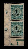 DEUTSCHES REICH 1923 Nr 314 Mit Plattennummer: 44 (94572) - Deutschland