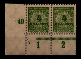 DEUTSCHES REICH 1923 Nr 316 Mit Plattennummer: 7 (94574) - Deutschland