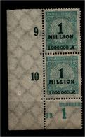 DEUTSCHES REICH 1923 Nr 314 Mit Plattennummer: 33 (94569) - Deutschland