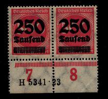 DEUTSCHES REICH 1923 Nr 295 Mit Hausauftragsnummer (94670) - Deutschland