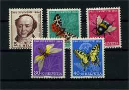 SCHWEIZ 1954 Nr 602-606 Postfrisch (111341) - Schweiz