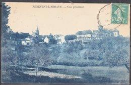 23    BENEVENT-L'ABBAYE    Vue Générale   Creuse   CPA    écrite à PUYLAUCHER Le 11 9 1925 - Benevent L'Abbaye