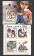 TG1047 2011 TOGO TOGOLAISE SCIENCE RED CROSS FIGHT AGAINST AIDS KB+BL MNH - Maladies