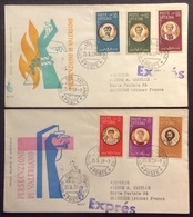 Va2  Persecuzioni Valeriano FDC Premier Jour Primo Giorno 25/5/1959 Vaticano Lot 2 Lettre - FDC