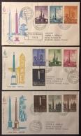 Va4 Posta Aerea FDC Premier Jour Primo Giorno 27/10/1959 Vaticano Recommandé Lot 3 Lettre - FDC
