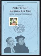 Martin Luther Auf Sonderblatt Zum Stadtfest Wittenberg Luthers Hochzeit Mit  - [7] République Fédérale