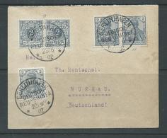 New Guinea German 1902 Cover Berlinhafen To Muskau Germany , 5 X 2pf Unoverprinted German Stamp Franking - Colony: German New Guinea