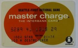 USA - Credit Card - Master Charge - Seattle First National Bank - Interbank - Exp 01/74 - Geldkarten (Ablauf Min. 10 Jahre)
