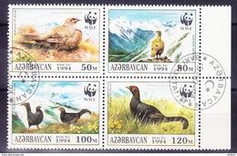 AZERBAIDJAN 1994, YT 163/6 OBL, OISEAUX. (4F235) - Oblitérés