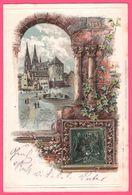 Litho Gaufrée Embossed - Regensburg - Moltkeplatz - Edit. HERMANN MARTIN - 1905 - Regensburg