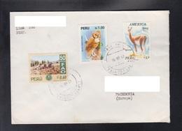 PERU, COVER / BIRD, BUBO BUBO, FAUNA, FAO, REPUBLIC OF MACEDONIA ** - Gufi E Civette
