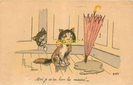 Rare Germaine Bouret, édition Emy, Moi Je M'en Lave Les Mains, Chats Et Parapluie - Bouret, Germaine