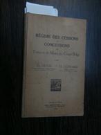 Th Heyse - H Leonard : Régime Des Cessions Et Concessions ... Congo Belge (1929) - 1901-1940