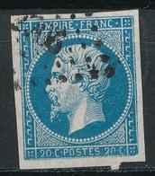 N°14 VARIETE ET OBLITERATION. - 1853-1860 Napoléon III
