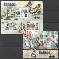 TG1107 2011 TOGO TOGOLAISE SPORT CHESS ECHECS 1KB+1BL MNH - Chess