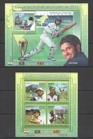 TG1202 2011 TOGO TOGOLAISE SPORT CRICKET WORLD CUP 1KB+1BL MNH - Cricket