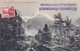 Chemin De Fer Du Gornergrat Et Le Cervin - Train - CAD - VS Valais