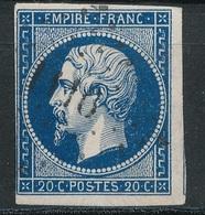 N°14 VARIETE ET OBLITERATION. - 1853-1860 Napoleone III