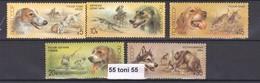 1988 Fauna Hunting Dogs  Animals: Fox Bear Duck (Mi 5827-31) 5v- MNH USSR - Cani
